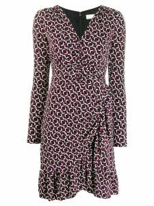 Michael Michael Kors printed long-sleeved dress - PINK
