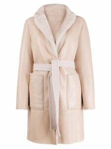 Blancha reversible belted coat - Pink