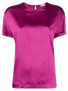 Brunello Cucinelli short-sleeve shift blouse - Pink