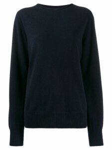 Maison Margiela oversized round neck sweater - Blue