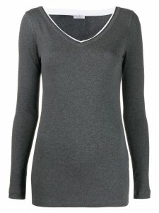 Brunello Cucinelli slim-fit jumper - Grey