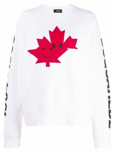 Dsquared2 logo print sweatshirt - White
