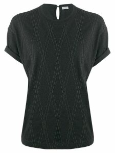 Brunello Cucinelli embellished T-shirt - Grey