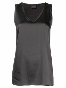 Brunello Cucinelli satin tank top - Grey