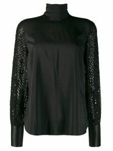 Brunello Cucinelli high neck blouse - Black