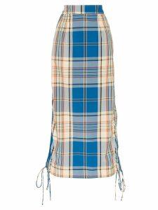 Simon Miller high-waisted check midi skirt - Multicolour