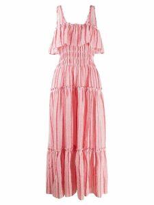Three Graces striped maxi dress - Pink