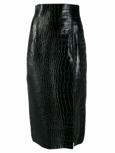 16Arlington Lipton crocodile effect skirt - Black