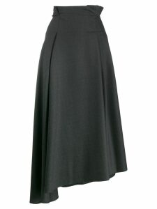 Brunello Cucinelli asymmetric pleated skirt - Grey