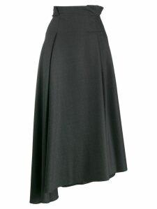 Brunello Cucinelli asymmetric pleated skirt - Grey