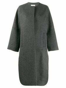 Enföld concealed front coat - Grey