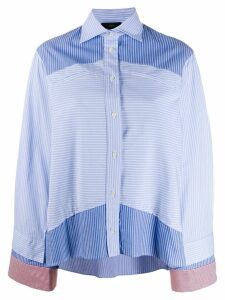Jejia striped panel shirt - Blue