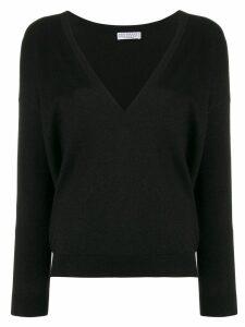 Brunello Cucinelli V-neck jumper - Black