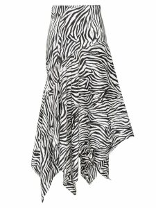 Solace London Lonnie zebra-print midi skirt - Black