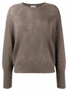 Brunello Cucinelli knitted twill jumper - Green