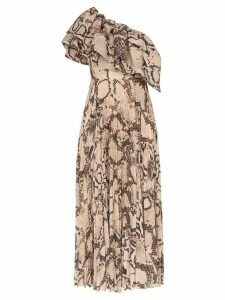 Solace London Rosa snakeskin-effect maxi dress - Brown