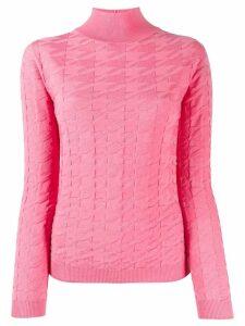 Blumarine dogtooth sweatshirt - Pink