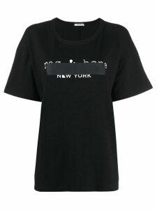 Rag & Bone logo tape T-shirt - Black