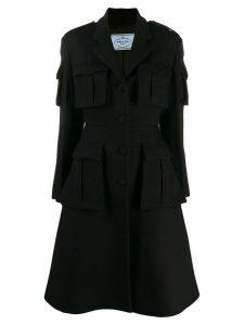Prada Single-breasted utility coat - Black