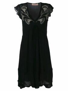 Twin-Set beaded details dress - Black