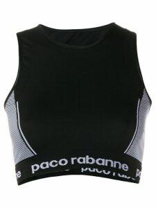 Paco Rabanne contrast panel top - Black