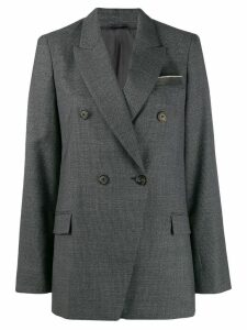 Brunello Cucinelli double breasted blazer - Grey