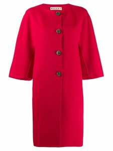Marni single breasted coat - Red
