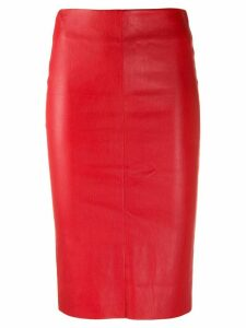 Drome fitted midi skirt - Red
