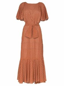 Johanna Ortiz You Should Be Dancing broderie anglaise dress - ORANGE