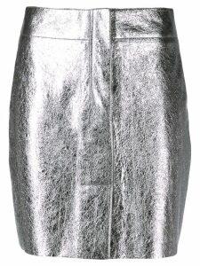 Sandro Paris short metallized skirt - Silver