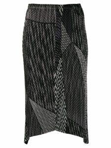 Issey Miyake structured design skirt - Black