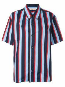Marni striped short-sleeve shirt - Blue