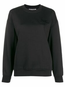 Courrèges embroidered logo sweatshirt - Black