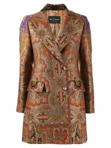 Etro paisley jacquard coat - Brown