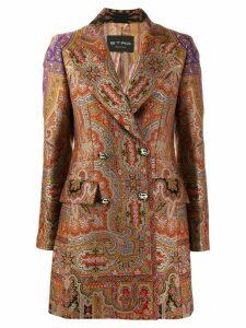 Etro paisley jacquard coat - Brown