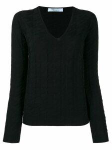 Blumarine knitted sweatshirt - Black