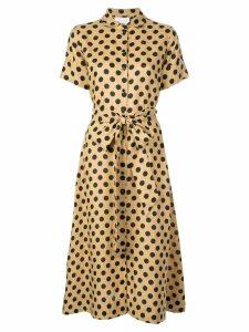 Lisa Marie Fernandez polka dot midi dress - Brown