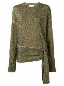 Sonia Rykiel tie waist jumper - Gold