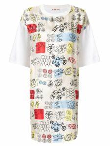 Marni floral T-Shirt dress - White
