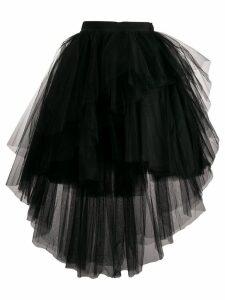 Brognano asymmetric tulle skirt - Black