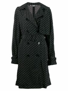Stella McCartney logo print trench coat - Black