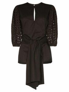 Johanna Ortiz Our Secret Life structured blouse - Black