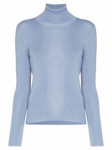 Prada turtleneck knitted jumper - Blue