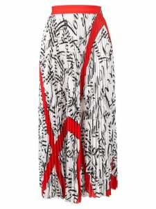 MSGM printed pleated skirt - White