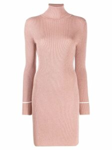 Off-White sheer glitter dress - Neutrals