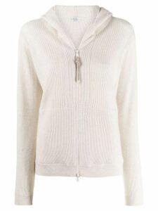 Brunello Cucinelli zip-up cashmere cardigan - Neutrals