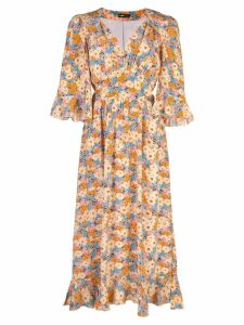 Stine Goya Evelyn Flowers silk dress - Multicolour