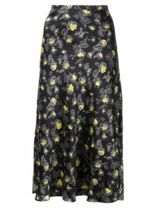 Cinq A Sept Marta rosebud skirt - Black