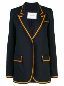 Derek Lam 10 Crosby Crosby Twill Blazer with Rib Trim - Black