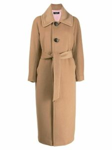 Dsquared2 single-breasted midi coat - NEUTRALS
